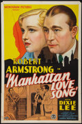 "Movie Posters:Comedy, Manhattan Love Song (Monogram, 1934). One Sheet (27"" X 41""). Comedy.. ..."