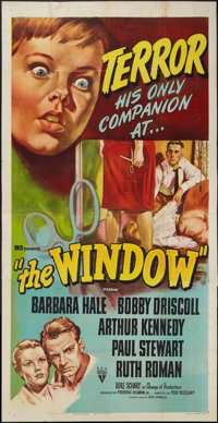 "The Window (RKO, 1949). Three Sheet (41"" X 81""). Film Noir"