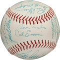 Baseball Collectibles:Balls, 1968-69 Minnesota Twins Team Signed Baseball (27 Signatures)....