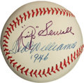 """Baseball Collectibles:Balls, Rip Sewell and Ted Williams Multi Signed """"Eephus Pitch"""" Baseball...."""