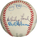 Baseball Collectibles:Balls, Pitchers With Most Season With .600 Winning Percentage Multi Signed Baseball (7 Signatures). ...