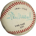 Baseball Collectibles:Balls, Career Batting Average Legends Ted Williams and Stan Musial Multi Signed Baseball....