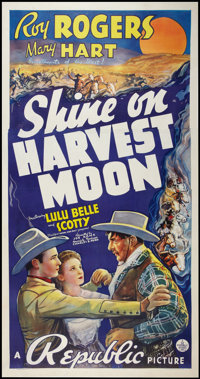 "Shine On Harvest Moon (Republic, 1938). Three Sheet (41"" X 81""). Western"