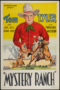 "Mystery Ranch (Bernard Ray, R-Late 1930s). Stock One Sheet (27"" X 41""). Western"
