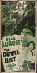 "Movie Posters:Horror, The Devil Bat (PRC, 1940). Three Sheet (40"" X 78.5""). Horror.. ..."