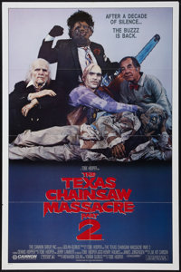 """The Texas Chainsaw Massacre Part 2 and Other Lot (Cannon, 1986). One Sheets (2) (27"""" X 41""""). Horror. ... (Tota..."""