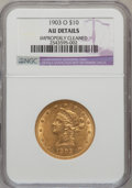 Liberty Eagles, 1903-O $10 -- Improperly Cleaned -- NGC Details. AU. NGC Census:(5/1080). PCGS Population (15/961). Mintage: 112,771. ...