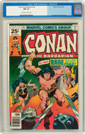 Bronze Age (1970-1979):Miscellaneous, Conan the Barbarian #65 (Marvel, 1976) CGC NM 9.4 Off-white towhite pages....