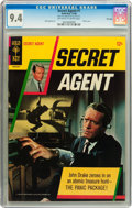 Silver Age (1956-1969):Adventure, Secret Agent #1 File Copy (Gold Key, 1966) CGC NM 9.4 Off-white to white pages....