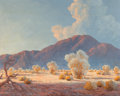 Fine Art - Painting, American:Modern  (1900 1949)  , FROM THE ESTATE OF CHARLES MARTIGNETTE.. JOHN WILLIAM HILTON(1904-1983). Desert Afternoon. Oil on board. 16 x 20 ...