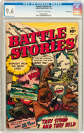 Golden Age (1938-1955):War, Battle Stories #4 Crowley Copy pedigree (Fawcett, 1952) CGC NM+ 9.6Off-white to white pages....