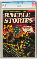 Golden Age (1938-1955):War, Battle Stories #9 Crowley Copy pedigree (Fawcett, 1953) CGC NM 9.4 Off-white pages....