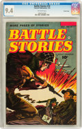 Golden Age (1938-1955):War, Battle Stories #10 Crowley Copy pedigree (Fawcett, 1953) CGC NM 9.4Off-white pages....