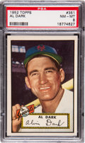Baseball Cards:Singles (1950-1959), 1952 Topps Al Dark #351 PSA NM-MT 8....