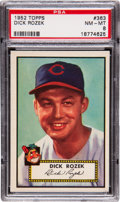 Baseball Cards:Singles (1950-1959), 1952 Topps Dick Rozek #363 PSA NM-MT 8....