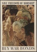 "Movie Posters:War, Norman Rockwell Four Freedoms Propaganda Poster (U.S. GovernmentPrinting Office, 1943). World War II OWI Poster No. 43 (20""..."
