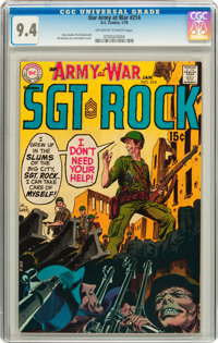 Our Army at War #214 (DC, 1970) CGC NM 9.4 Off-white to white pages