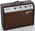 Musical Instruments:Amplifiers, PA, & Effects, 1960's Gibson Skylark Brown Guitar Amplifier, Serial Number #413093....