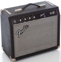 Musical Instruments:Amplifiers, PA, & Effects, 1980's Fender Champ II Black Guitar Amplifier, Serial Number #F202780....