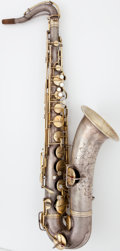 Musical Instruments:Horns & Wind Instruments, 1923 Conn Silver Tenor Saxophone, Serial Number #87462....