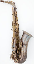Musical Instruments:Horns & Wind Instruments, 1904 Conn High Pitched Silver Alto Saxophone, Serial Number #7976....