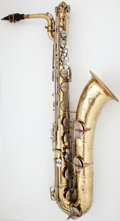 Musical Instruments:Horns & Wind Instruments, 1959 Conn Naked Lady Brass Baritone Saxophone, Serial Number#761941....