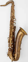Musical Instruments:Horns & Wind Instruments, 1942 Buescher Aristocrat Brass Tenor Saxophone, Serial Number #297524....