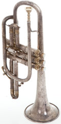 Musical Instruments:Horns & Wind Instruments, 1900's King Master Silver Trumpet, Serial Number #24876....