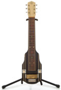 Musical Instruments:Lap Steel Guitars, 1940's Vega Black Lap Steel Guitar, Serial Number #36071....