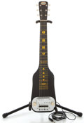 Musical Instruments:Lap Steel Guitars, 1960 Oahu Black Lap Steel Guitar, Serial Number #T36868....
