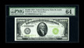Fr. 2221-H $5000 1934 Federal Reserve Note. PMG Choice Uncirculated 64 EPQ. According to the United States Treasury Depa...