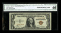 Small Size:World War II Emergency Notes, Fr. 2300 $1 1935A Hawaii Silver Certificate. CGA Gem Uncirculated 66.. This is a high quality and well embossed example of t...