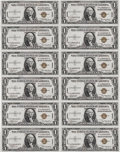 Small Size:World War II Emergency Notes, Fr. 2300 $1 1935A Hawaii Silver Certificates. Uncut Sheet of 12.Gem Crisp Uncirculated.. This is a simply incredible uncut ...