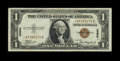 Small Size:World War II Emergency Notes, Fr. 2300* $1 1935A Hawaii Silver Certificate. Extremely Fine.. A pleasing and wholly original Star with only three folds....