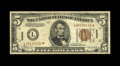 Small Size:World War II Emergency Notes, Fr. 2301* $5 1934 Hawaii Federal Reserve Note. Fine.. This Mule carries the highest serial number listed in the Oakes refere...