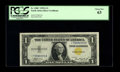 Small Size:World War II Emergency Notes, Fr. 2306* $1 1935A North Africa Silver Certificate. PCGS Choice New63.. The tight bottom margin is what caused the grade. A...