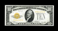 Small Size:Gold Certificates, Fr. 2400 $10 1928 Gold Certificate. Choice Crisp Uncirculated.. Pristine surfaces are noticed on this bright note. Nicely ma...