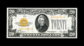 Small Size:Gold Certificates, Fr. 2402 $20 1928 Gold Certificate. Choice Crisp Uncirculated.. This crisp, vibrant example as plenty of paper wave. Some em...