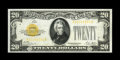 Small Size:Gold Certificates, Fr. 2402 $20 1928 Gold Certificate. Choice Crisp Uncirculated.. This gorgeous note has very vibrant overprints with some emb...