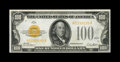 Fr. 2405 $100 1928 Gold Certificate. About Uncirculated. Detailed examination of this boldly colored note reveals the sl...