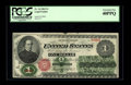 Large Size:Legal Tender Notes, Fr. 16 $1 1862 Legal Tender PCGS Extremely Fine 40PPQ. This example certainly carries a most desirable grade for the issue t...