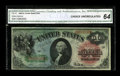 Large Size:Legal Tender Notes, Fr. 18 $1 1869 Legal Tender CGA Choice Uncirculated 64. Loads of color and no problems at all that are visible through the t...