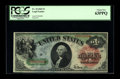 Large Size:Legal Tender Notes, Fr. 18 $1 1869 Legal Tender PCGS Choice New 63PPQ. Tight margins appear to be the only detraction on this brightly colored, ...