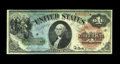Large Size:Legal Tender Notes, Fr. 18 $1 1869 Legal Tender Choice Very Fine. The green, blue, and red inks are very colorful on this mid-grade Rainbow Ace....