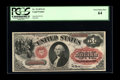 Large Size:Legal Tender Notes, Fr. 19 $1 1874 Legal Tender PCGS Very Choice New 64. If the overprint on this note were any deeper red, it would be too dark...