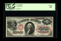 Fr. 20 $1 1875 Legal Tender PCGS Choice New 63. A solid Choice example of this early Ace. The paper color is a bit muted...
