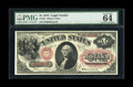 "Large Size:Legal Tender Notes, Fr. 22 $1 1875 Legal Tender PMG Choice Uncirculated 64EPQ. This isthe ""B"" series note from the 1875 Aces. Only about 20 exa..."