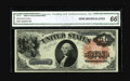 Large Size:Legal Tender Notes, Fr. 31 $1 1880 Legal Tender CGA Gem Uncirculated 66. This is a beautifully bright example of this scarcer type. This piece h...