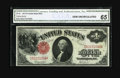 Large Size:Legal Tender Notes, Fr. 36 $1 1917 Legal Tender CGA Gem Uncirculated 65. This Legal Ace is well margined with bright surfaces....