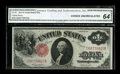 Fr. 36 $1 1917 Legal Tender CGA Choice Uncirculated 64. The embossing of the serial numbers is readily apparent, even th...